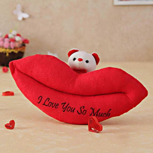 Lips Teddy Soft Toy