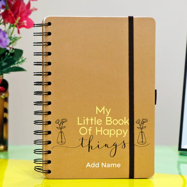Little Book of Happy Things Personalized Notebook