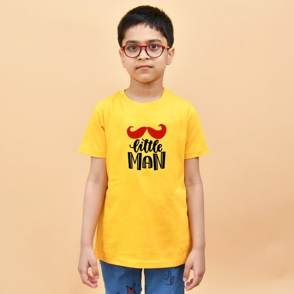 Little Man Yellow T-Shirt for Boys