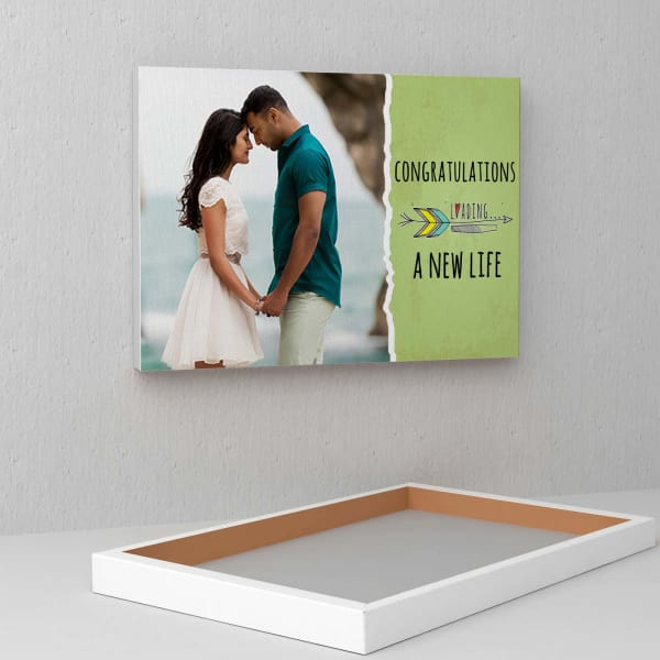 Personalized Wedding Canvas: Loading A New Life Personalized Wedding Canvas: Gift/Send