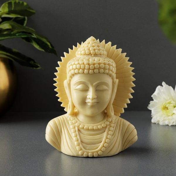 Lord Buddha Ivory Finish Idol