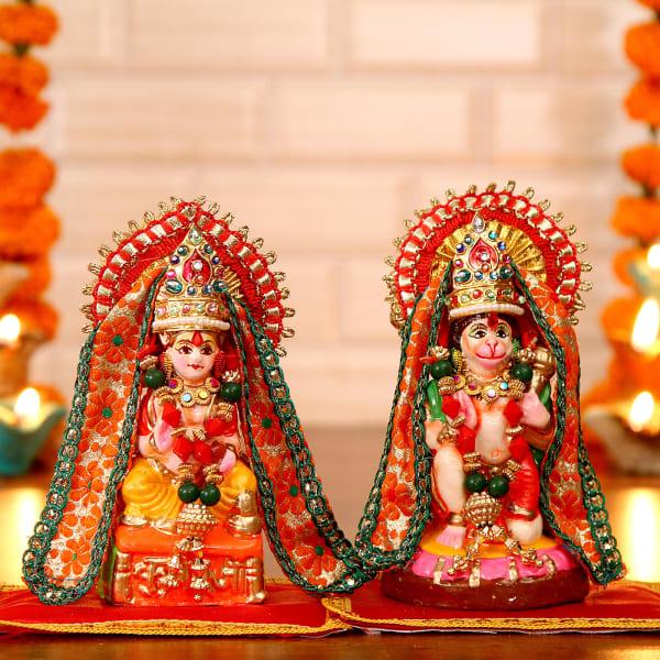 Lord Hanuman & Kuber Idols: Gift/Send Home and Living Gifts