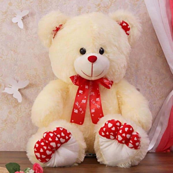 Lovable Fluffy Cream Teddy