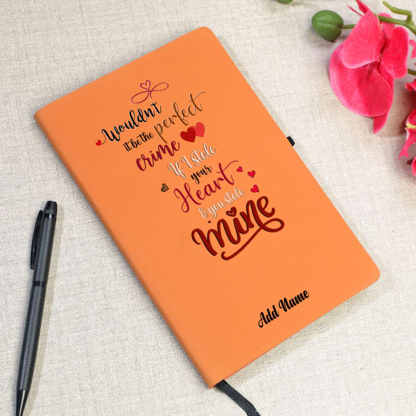 Love Crime Personalized Notebook