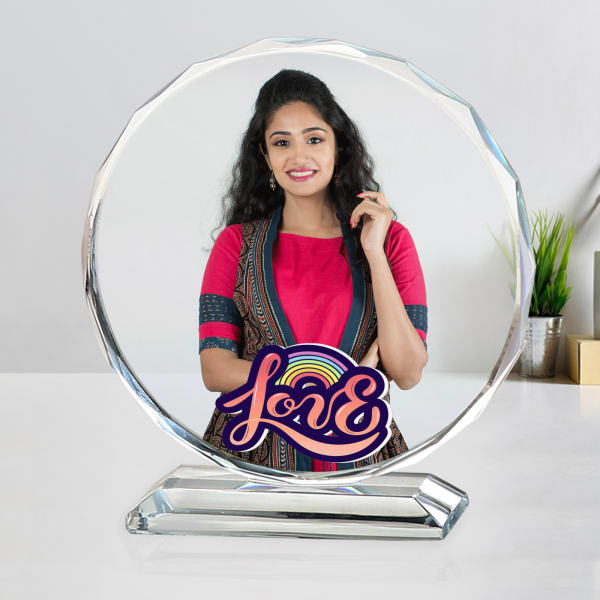 Love Personalized Crystal with Stand