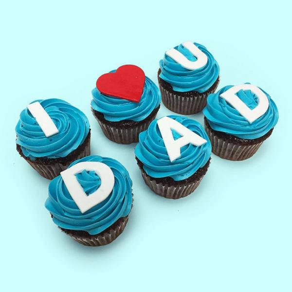 Love U Dad Chocolate Cupcakes (6pcs)
