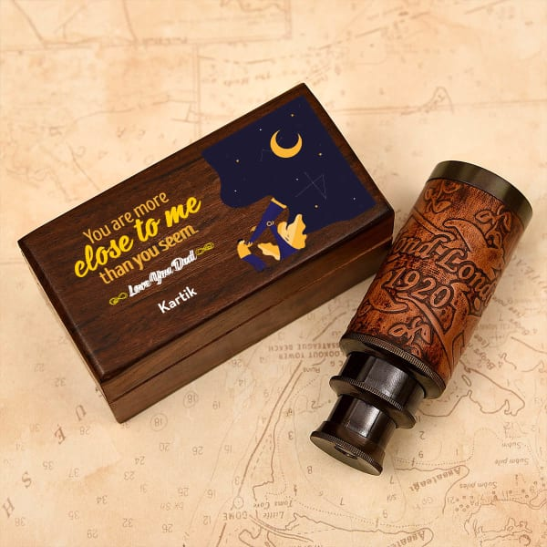 Love You Dad Keepsake Telescope in Personalized Gift Box