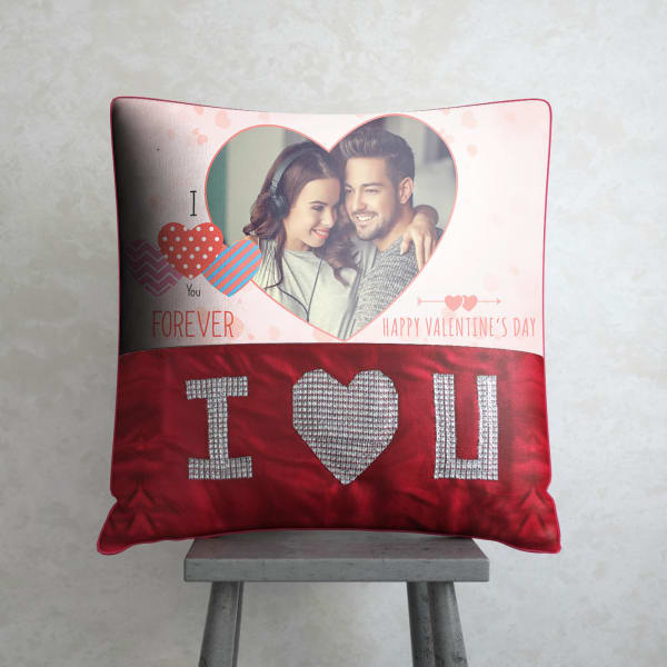 Love You Forever Personalized Valentine Cushion