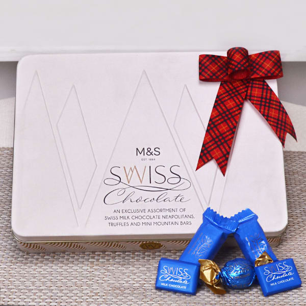 M&S Swiss Chocolate Tin: Gift/Send Gourmet Gifts Online(M11075973