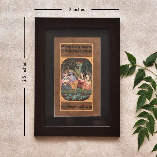 Madhur Milan Ragini Wooden Framed Painting