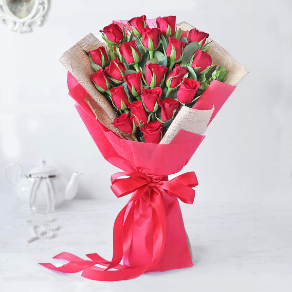 Majestic Red Rose Bouquet