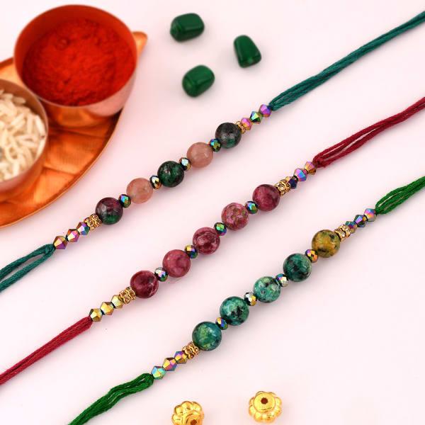 Marble Effect Beads Rakhi (Set of 3)