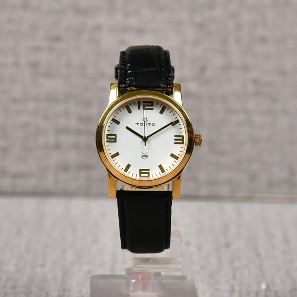 Maxima Leather Strap Watch for Men