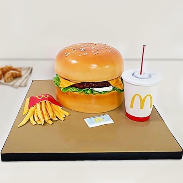 McDonald's Meal Fondant Cake (5 Kg)
