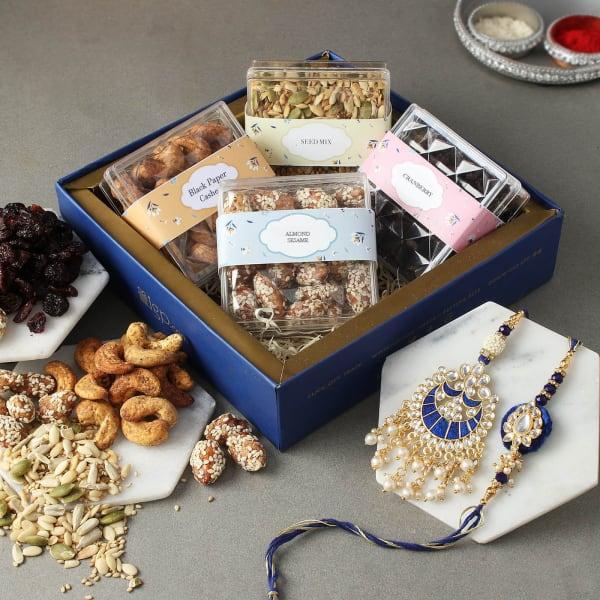 Meena Bhaiya Bhabhi Rakhi With Premium Goodies