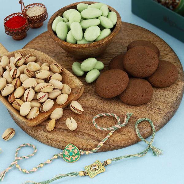 Meena Rakhis With Premium Goodies