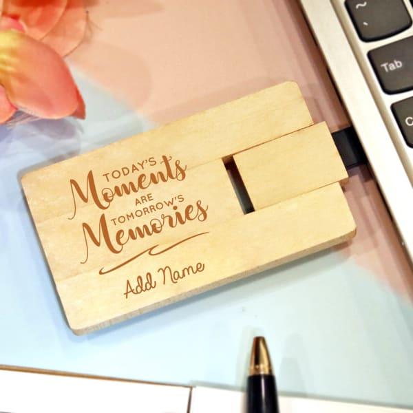 Memories Personalized USB Card Pen Drive- 64GB