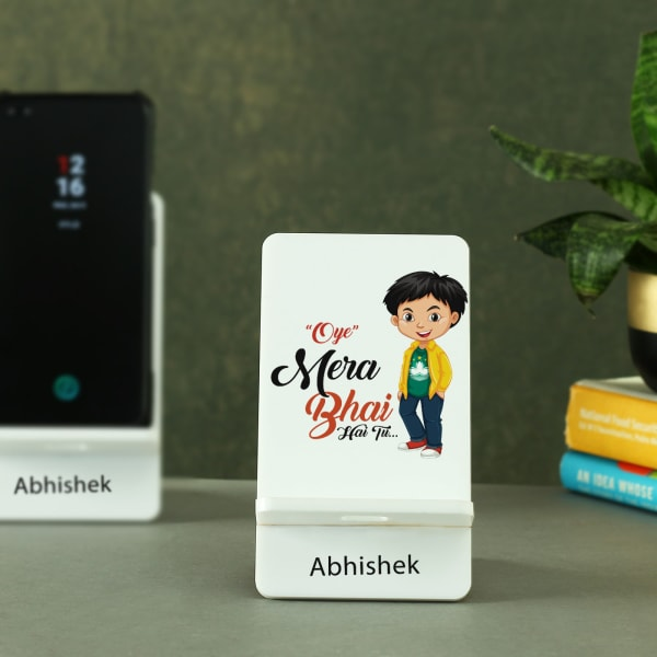 Mera Bhai Personalized Mobile Stand