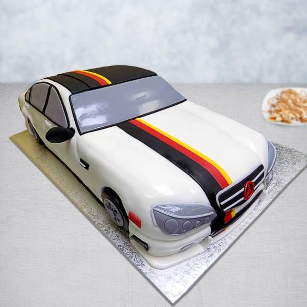 Mercedes Benz Fondant Cake (3 Kg)