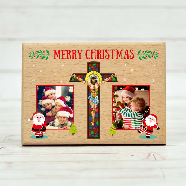 Merry Christmas Personalized Wooden Plaque