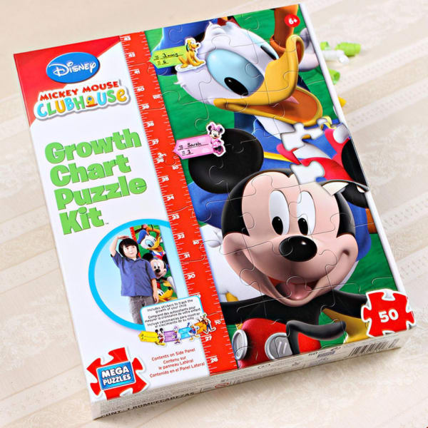 Mickey Mouse Growth Chart Puzzle Kit Giftsend Toys And Games
