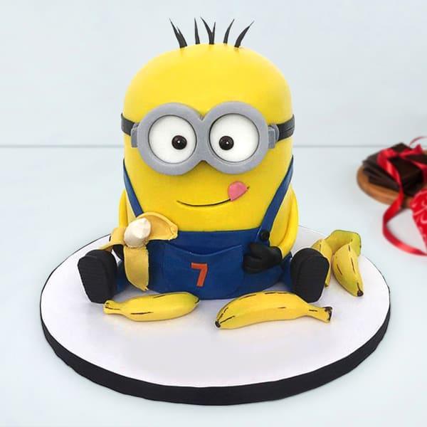 Minion Phil Fondant Cake (3 Kg)