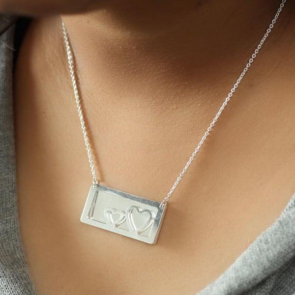 Modern Love Pendant Necklace