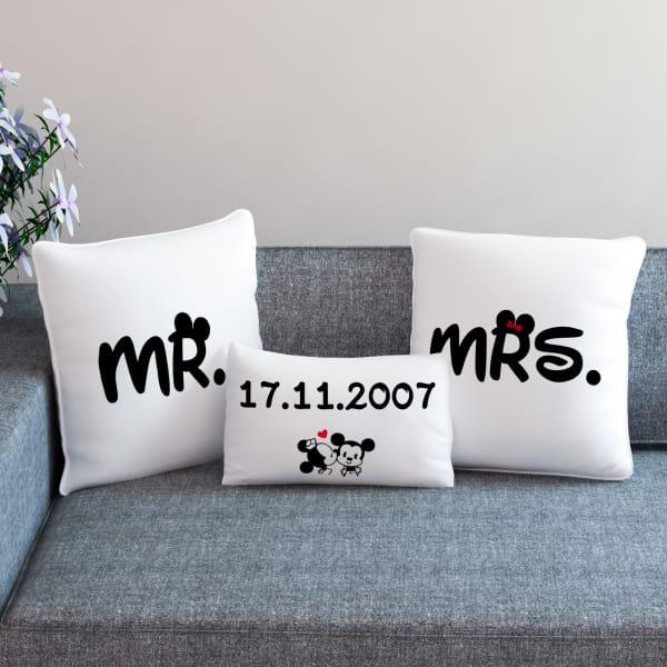 Mr. & Mrs. Personalized Anniversary Cushion Set
