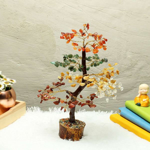 Multi Color Stone Wishing Tree