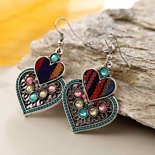 Multicolored Stone Studded Earring