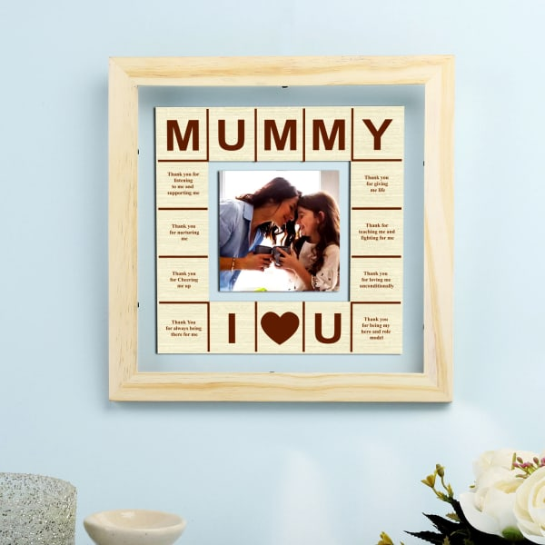 Mummy Love Personalized Wooden Photo Frame