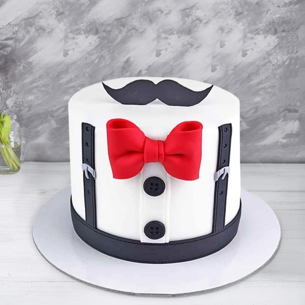 Mustache Fondant Cake(2.5 Kg)
