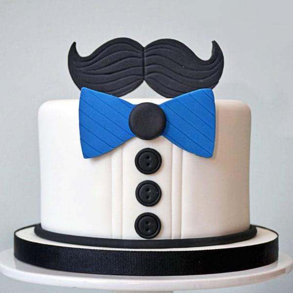 Mustache Theme Cake (1.5 Kg)