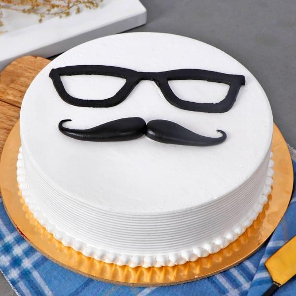 Mustache Theme Cake (Half Kg)