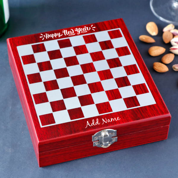 New Year Personalized Chessboard Wine Kit