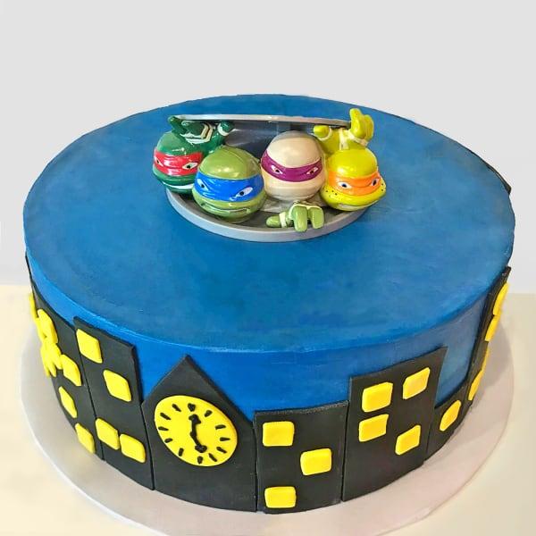 Nightlife City Designer Fondant Cake (3 Kg)