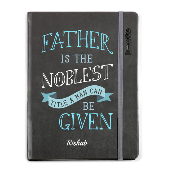 Noble Dad Personalized Premium Notebook