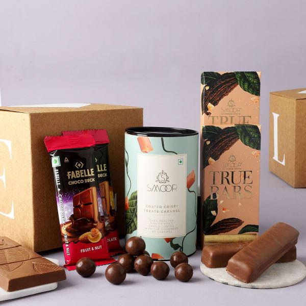 Nutty And Crispy Chocolates Gift Box