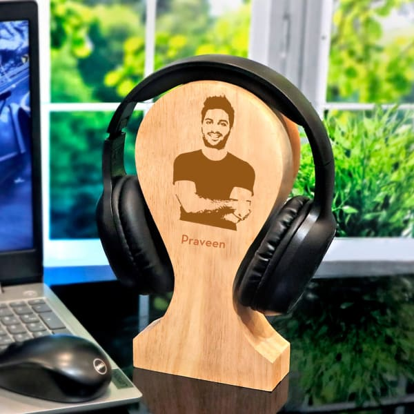 Over the Ear Bluetooth Headphones with Personalized Stand