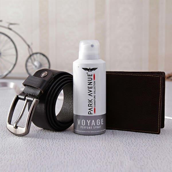 Park Avenue Perfume with a Formal Belt & Wallet Hamper