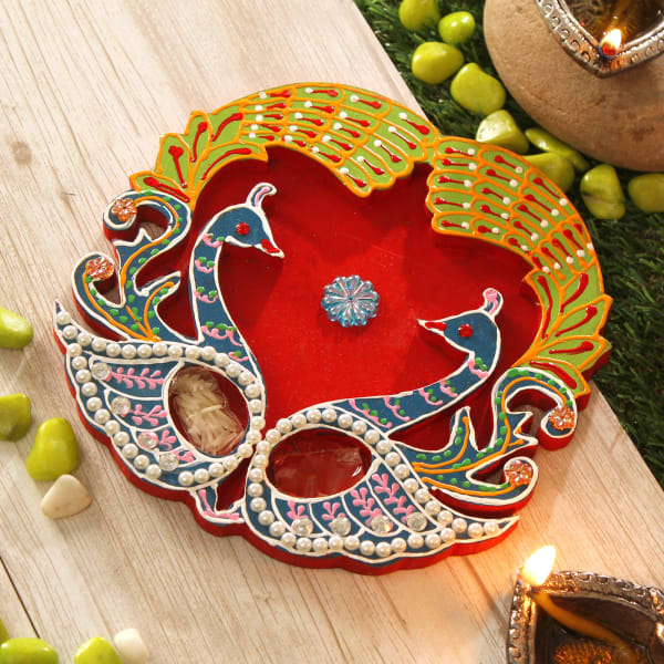 Peacock Bhaidooj Tikka Thali