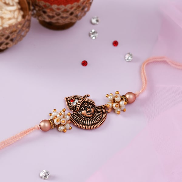 Pearls And CZ Shrinathji Rakhi
