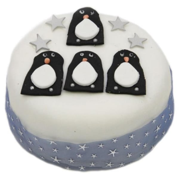 Penguins Christmas 6 inches Cake