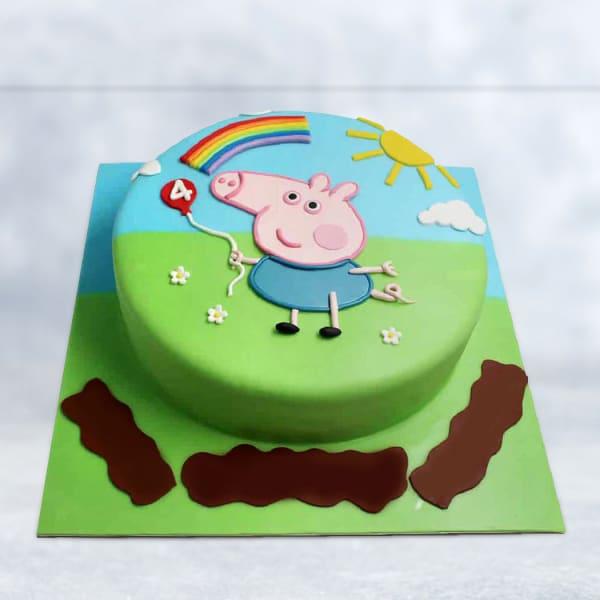 Peppa Pig Themed Cake (2.5 Kg)