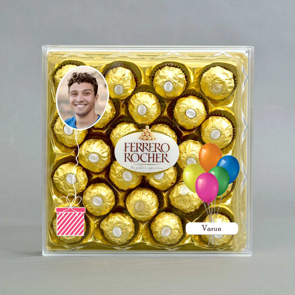 Personalised Box of Delicious Ferrero Rocher Chocolates 24 Pcs