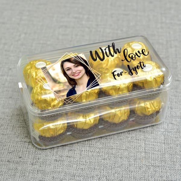Personalised Ferrero Rocher Chocolate 16 Pcs: Gift/Send