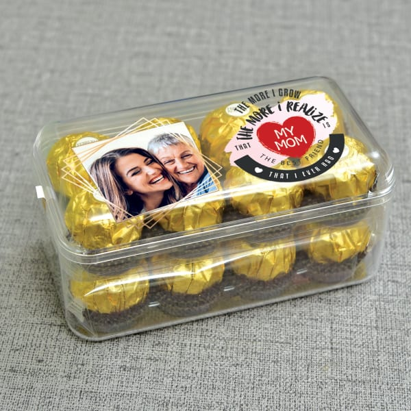 Personalised Mother's Day Ferrero Rocher Chocolate 16 pcs