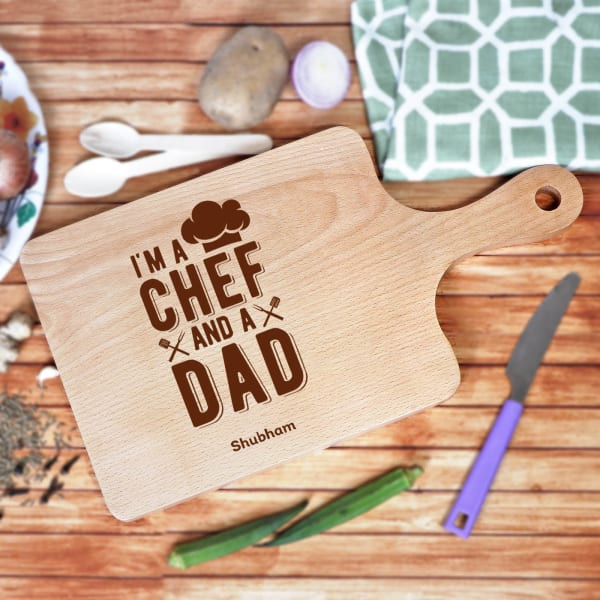 Personalised Wooden Chopping Board for Dad