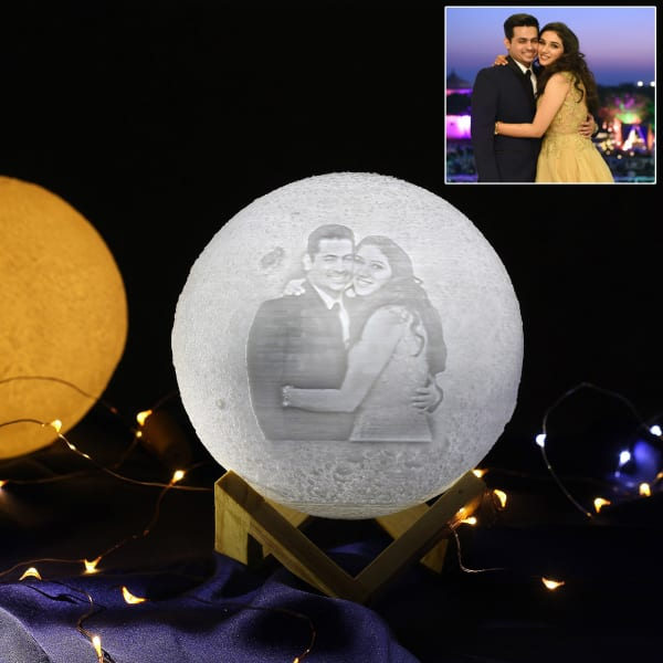 Personalized 3d Print Moon Led Lamp Gift Send Home And Living Gifts Online J11101341 Igp Com