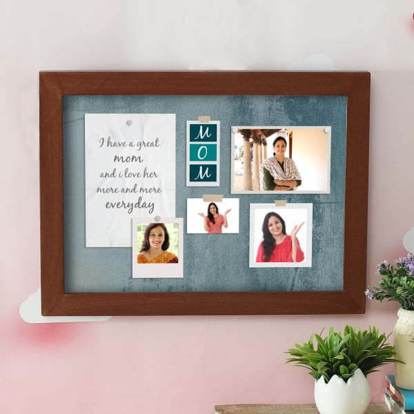 Personalized A3 Wooden Photo Frame for Mom